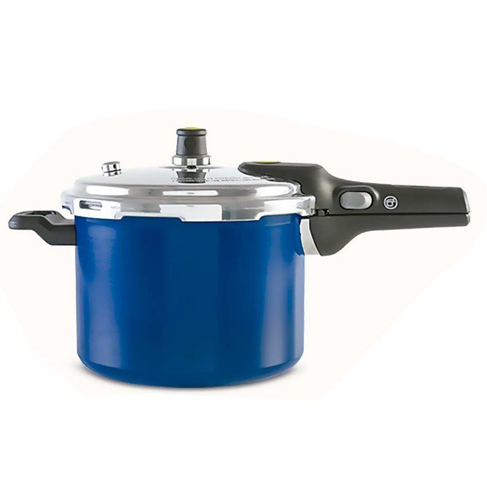 Panela de Pressão Pressure 6 Litros 4950/112 Azul Brinox