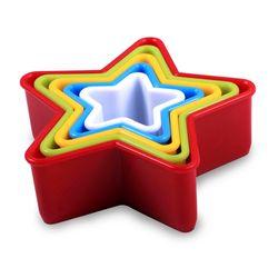 Jogo-5-Cortadores-Formato-Estrela-Plastico-Colorido-KE-Home
