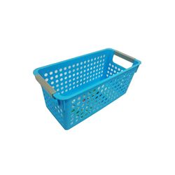 Cesta-Organizadora-Pequena-29x13x12cm-Basic-Kitchen-Azul