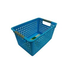 Cesta-Organizadora-Pequena-27x18x14cm-Basic-Kitchen-Azul