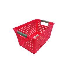 Cesta-Organizadora-Pequena-27x18x14cm-Basic-Kitchen-Rosa