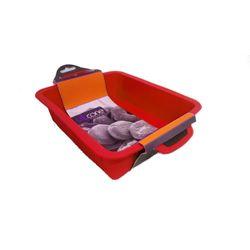 Forma-Quadrada-em-Silicone-29.5x21x6.5-cm-Vermelho-Basic-Kitchen