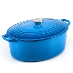 Panela-oval-31cm-azul-marseille-Le-Creuset
