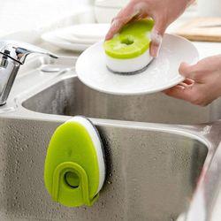 Kit-Com-3-Esponjas-Com-Capsula-Para-Detergente-Basic-Kitchen