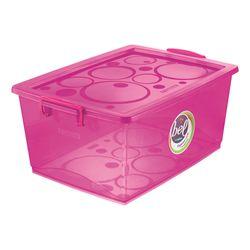 Organizador-Pink-Com-Trava-30-Litros---Ordene