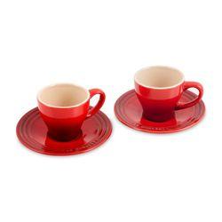 Conjunto-2-Xicaras-Espresso-Com-Pires-Vermelho-Le-Creuset