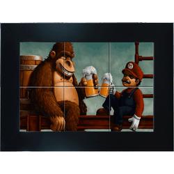 Quadro-Retangular-37X27Cm-6-Azulejos-Donkey-Kong-Mellie