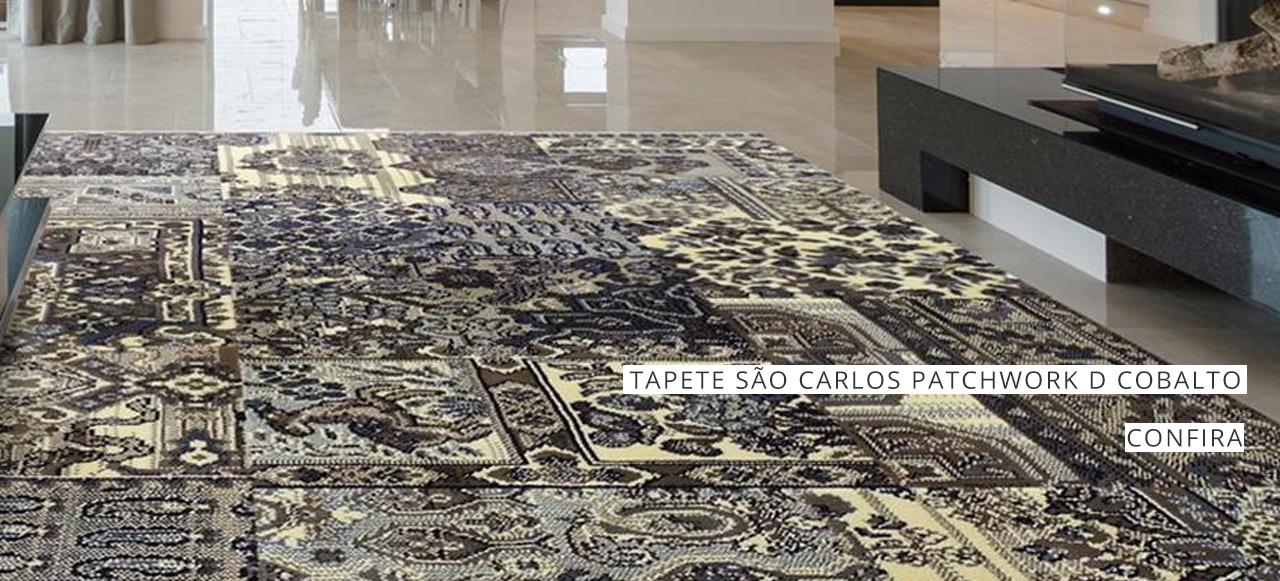 TAPETE SAO CARLOS PATCHWORK D COBALTO