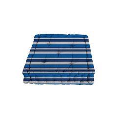 Almofada Futon Azul Listras 0.40 x 0.40 cm Camesa