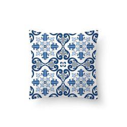 Capa-de-Almofada-40cmx40cm-Floral-Azul