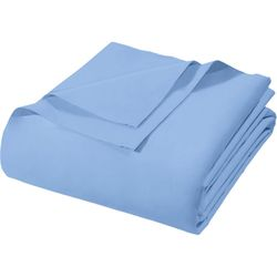 Lencol-Casal-Royal-Plus-Sem-Elastico-Azul-Santista