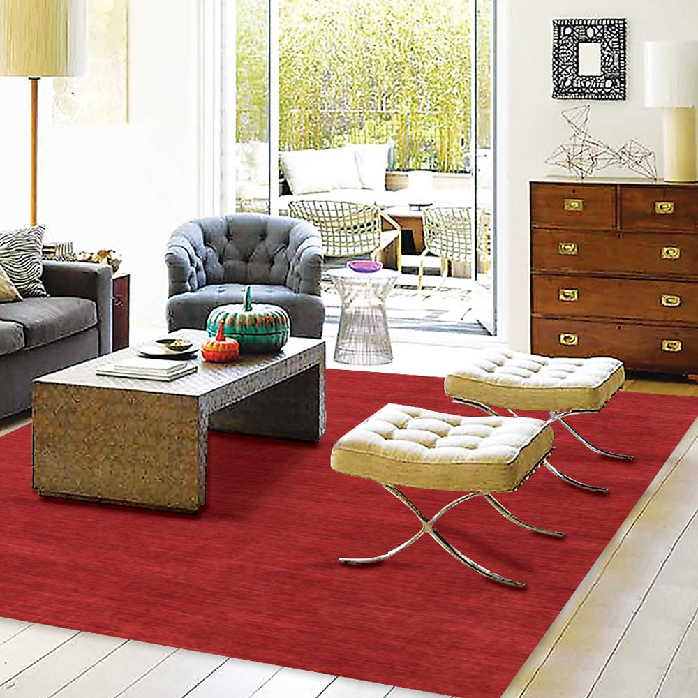 tapete indiano bhadohi color vermelho doural. Black Bedroom Furniture Sets. Home Design Ideas
