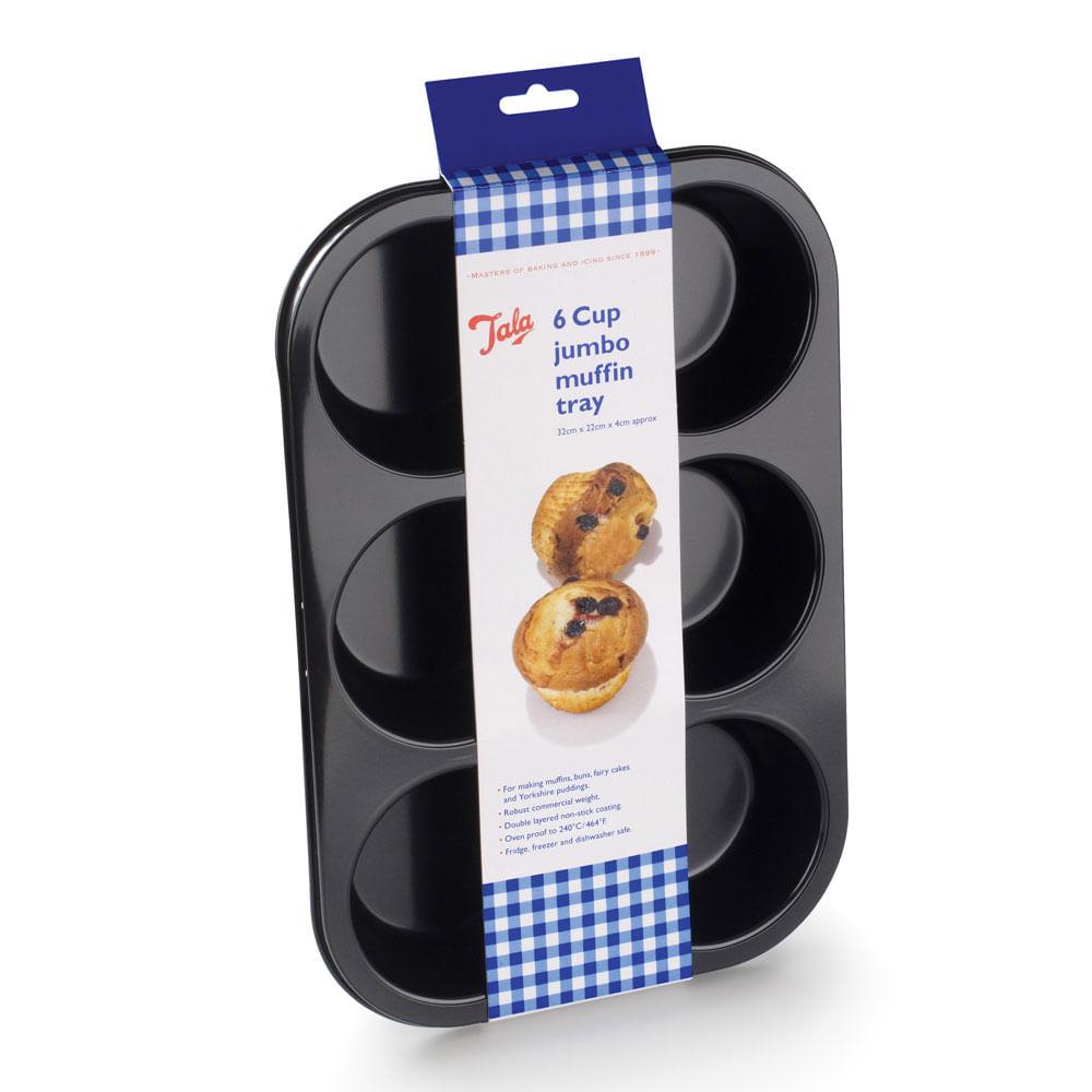 Forma Antiaderente Para Muffins Tala Bakeware Preta
