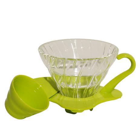 Suporte Para Filtro De Café Hario V60-01 De Vidro Verde