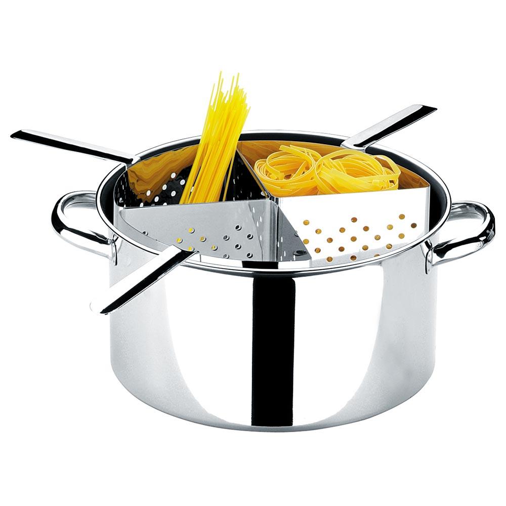 Espagueteira 4 Divisões Savoy 31X16.5 Cm. 10 Litros Brinox