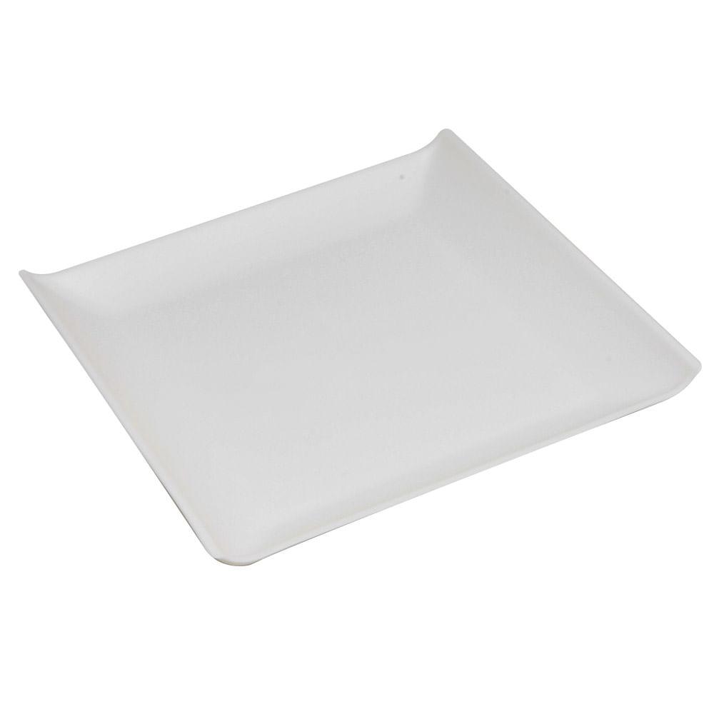 Prato Quadrado Coza 206X206X26 Mm Branco