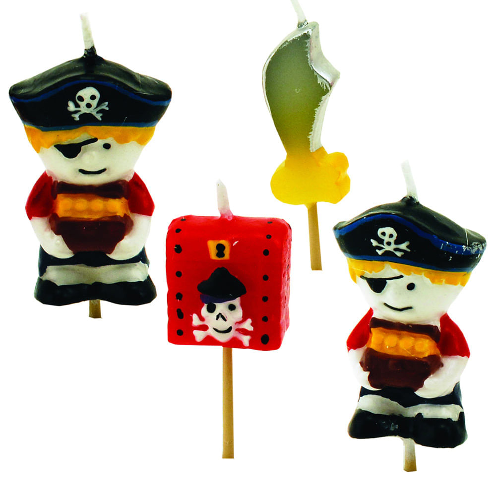 Conjunto Com 4 Velas Pirata Tala 10157 George East