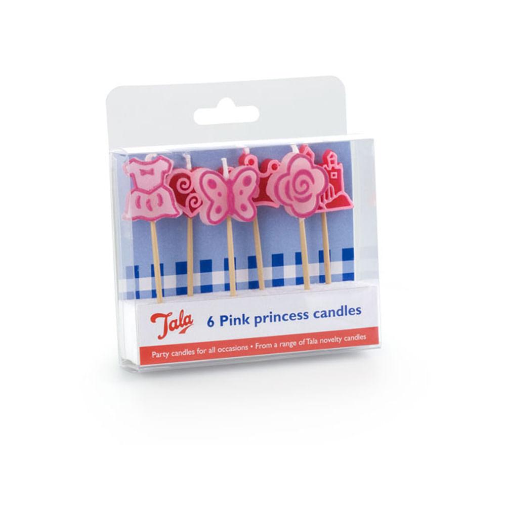 Conjunto Com 6 Velas Pink Tala - 10183