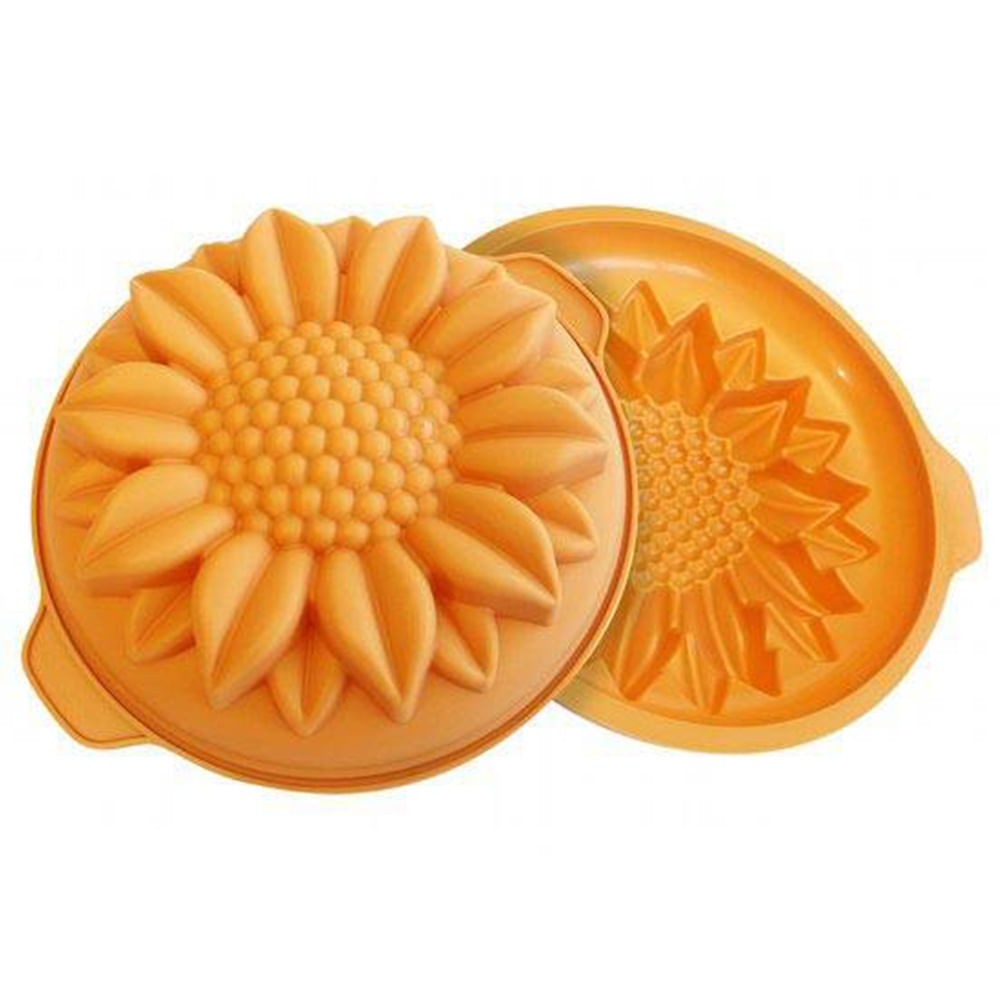 Forma De Silicone Sunflower Baixa 26Cm Silikomart