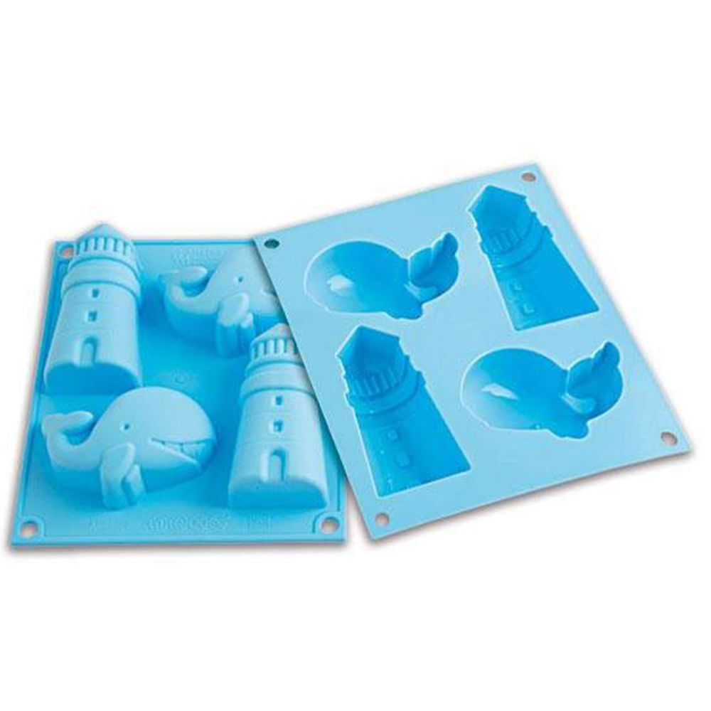 Forma De Silicone Happy Sea Silikomart 26.008.93.0065 Prana