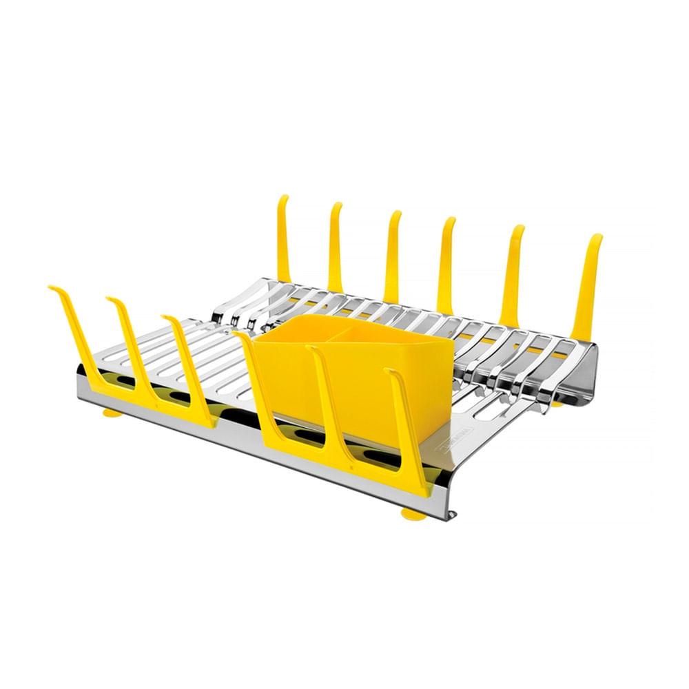Escorredor De Louça Aço Inox Amarelo Plurale 61535580 Tramontina