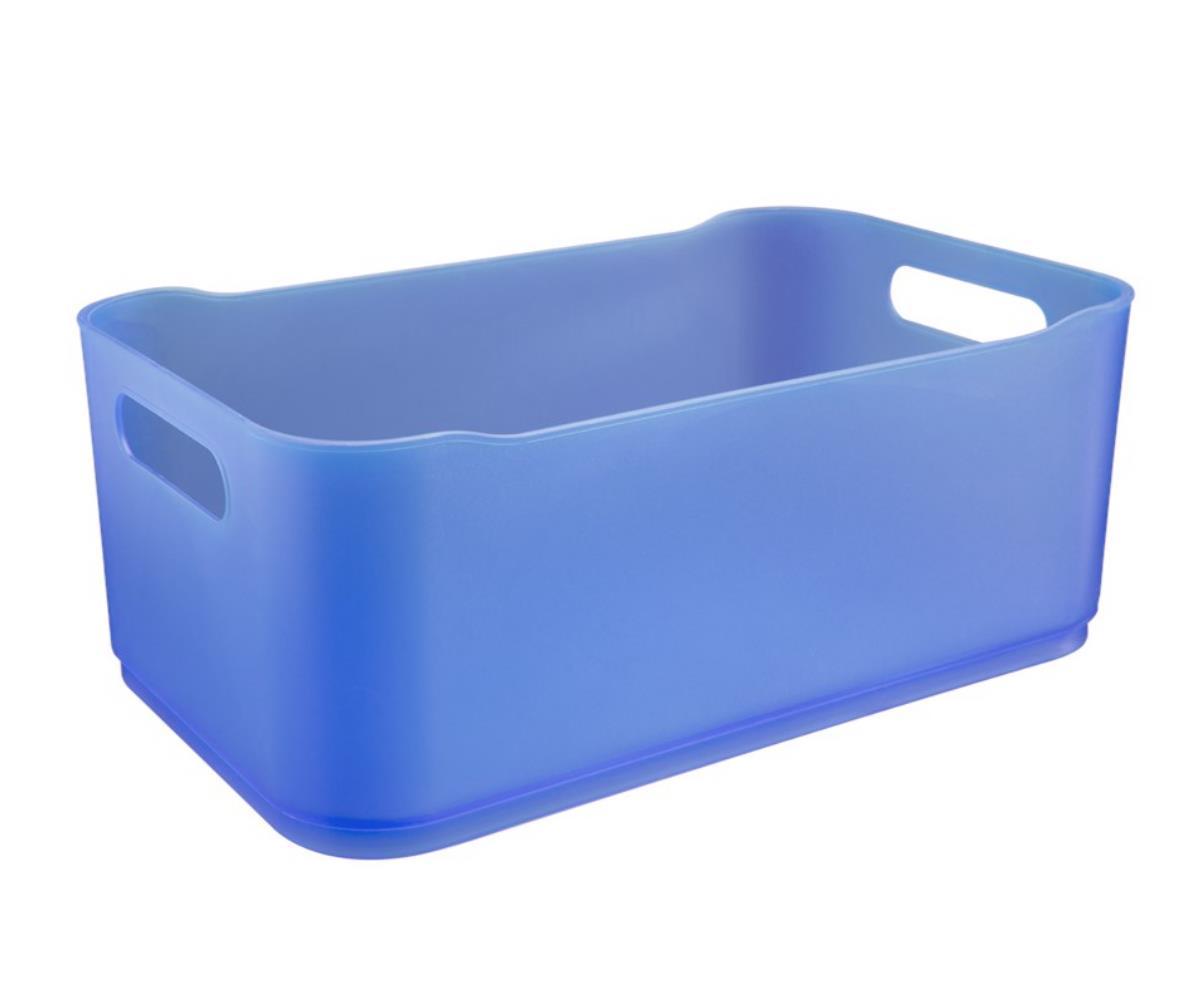 Cesta Fit Grande 30.5X18.5X12 Cm Azul Coza