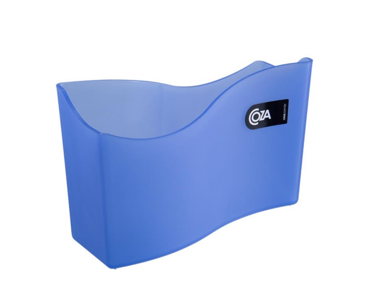 Porta-Guardanapo Grande 18X7X12 Cm Azul Coza