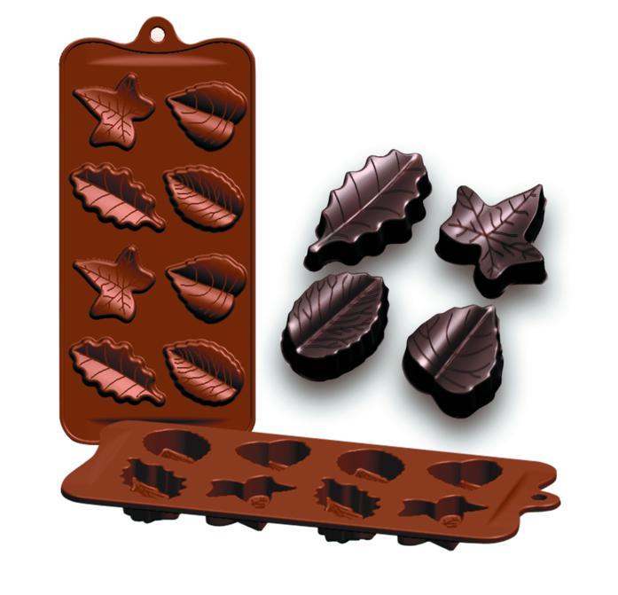 Molde Silicone Chocolates-Mantequilla-Hoja Ibili - 860305