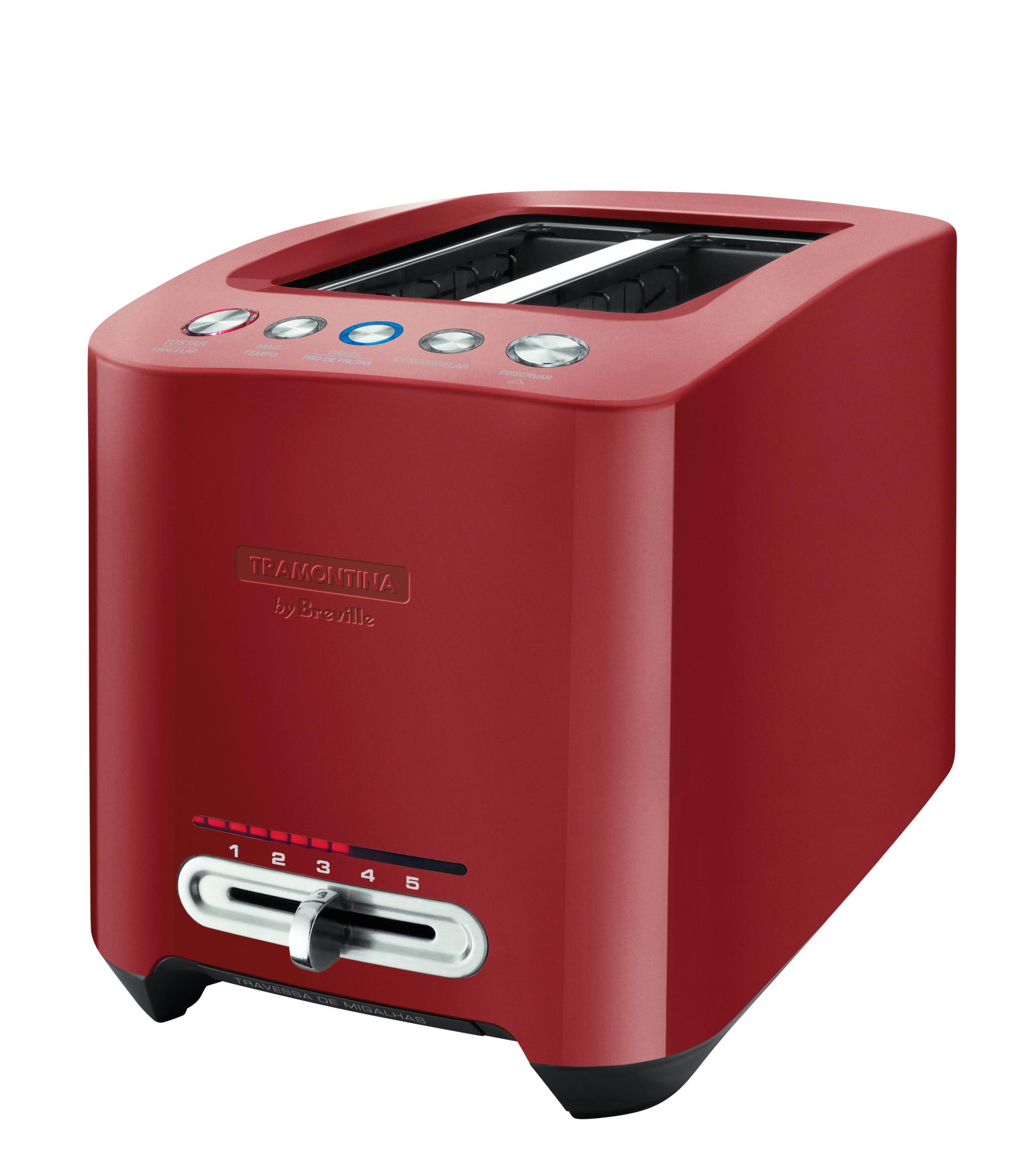 Torradeira Smart 127V Aço Inox Vermelha By Breville 69045021 Tramontina