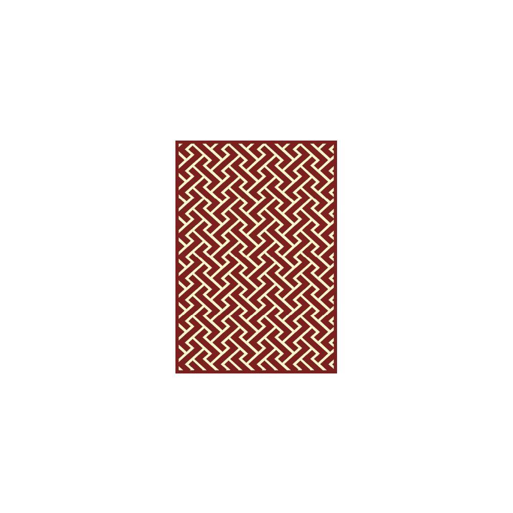 Tapete Belga Vênus Moderno 0.60x1.00 5517 Vermelho Abdalla