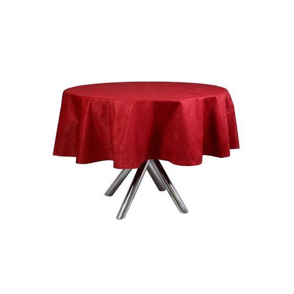 Toalha De Mesa Redonda Sienna Vermelha 1,78 X M Karsten