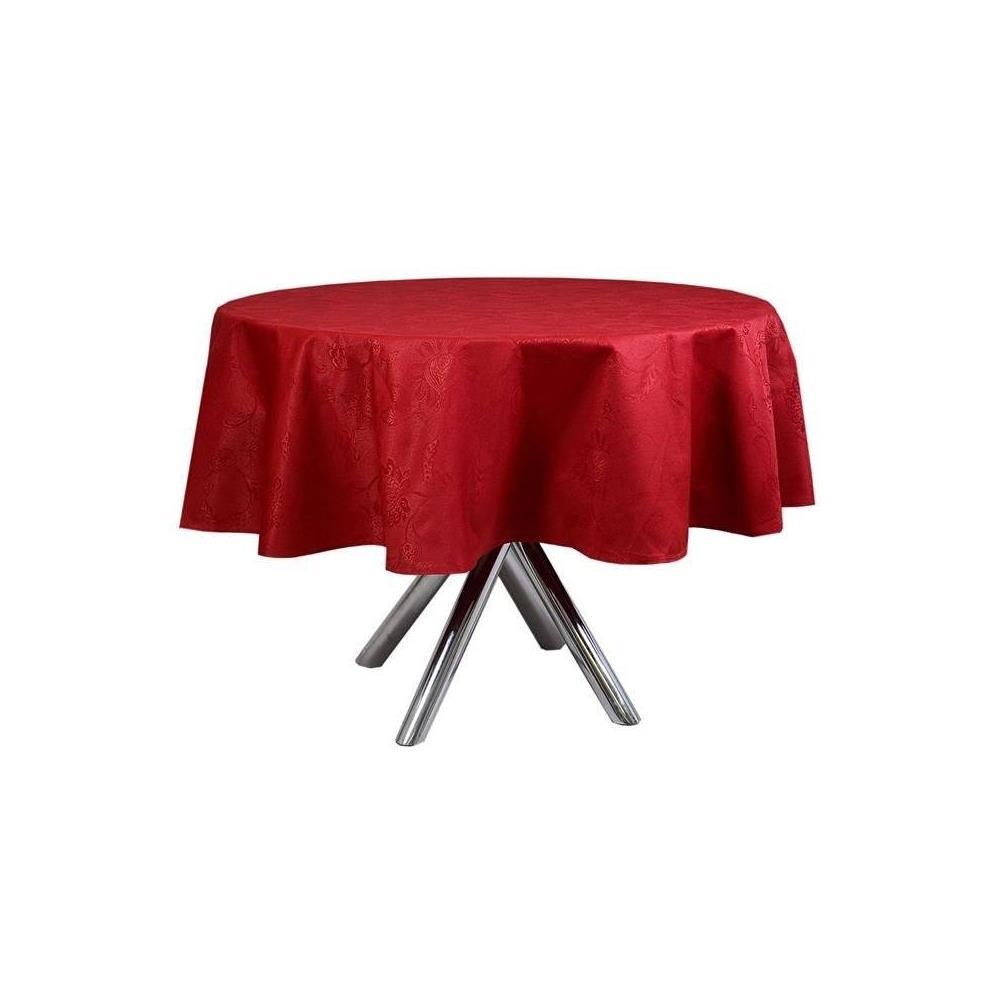 Toalha De Mesa Redonda Sienna Vermelha 1.78X0 M Karsten