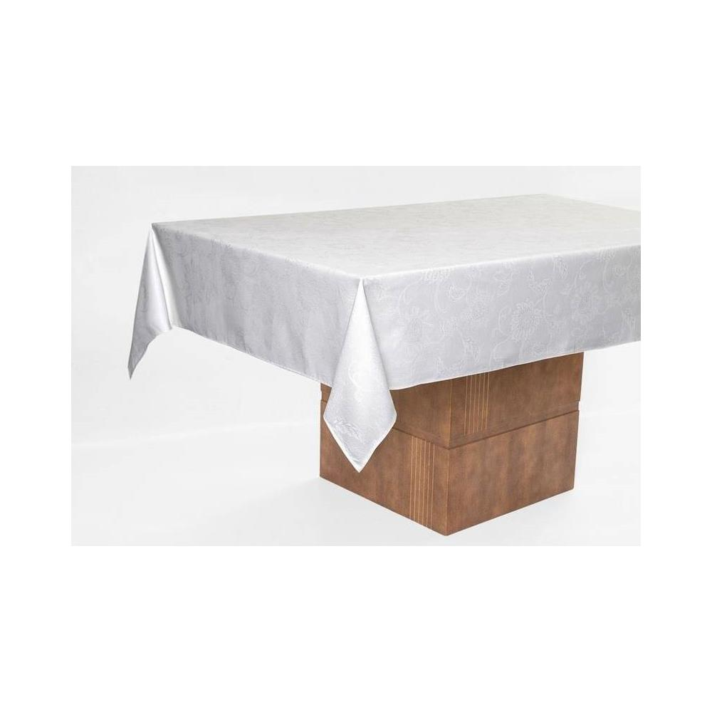 Toalha De Mesa Retangular Sienna Branca 1.60X2.70 M Karsten