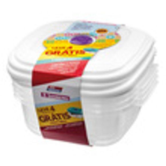 Conjunto Leve 4 1,3L Gratis 480Ml Vac Freezer - Sanremo - Sr455/72