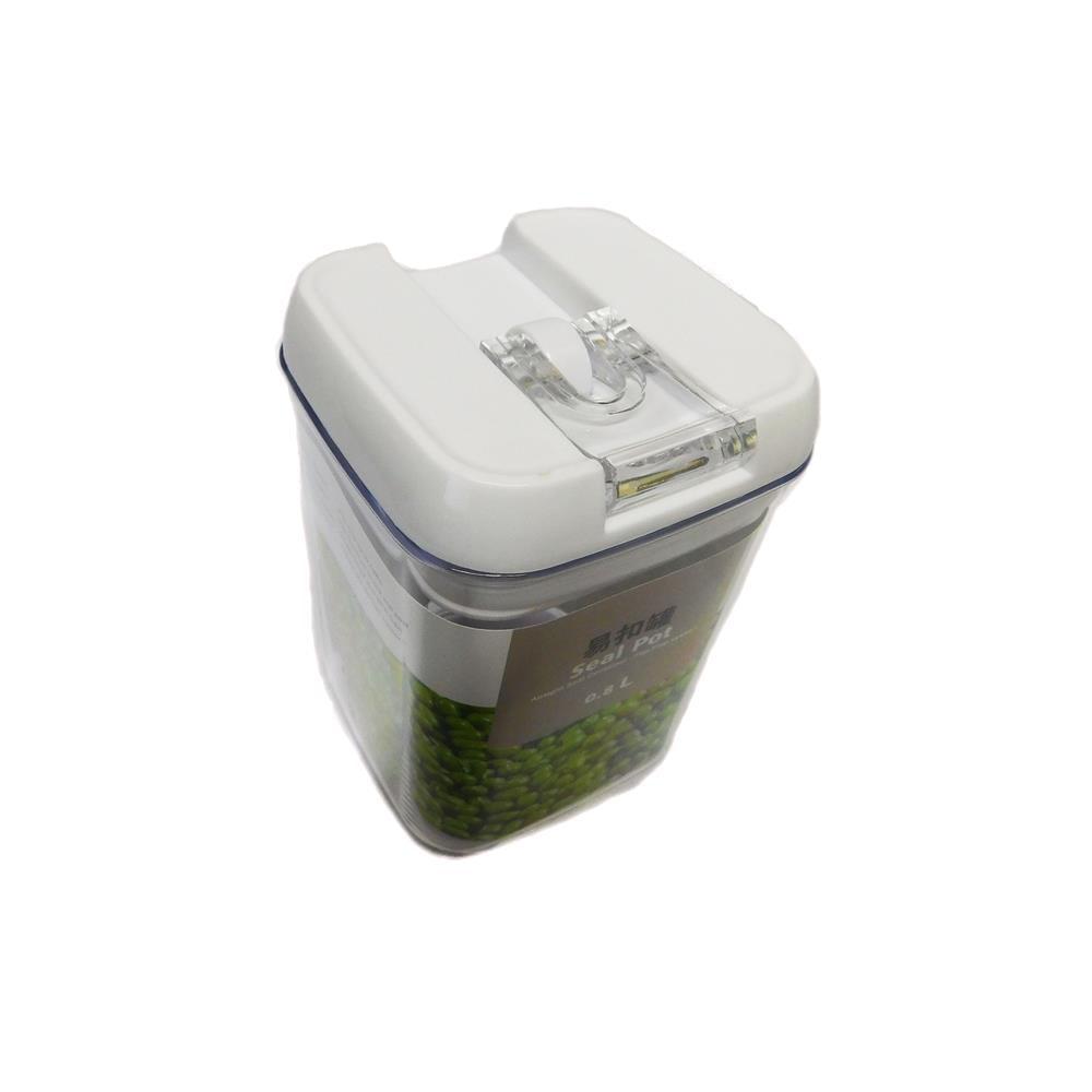 Pote Hermético Quadrado 0.8L Basic Kitchen