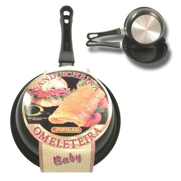 Omeleteira-Sanduicheira-Baby-14Cm-Black-Aluminio-Fortaleza