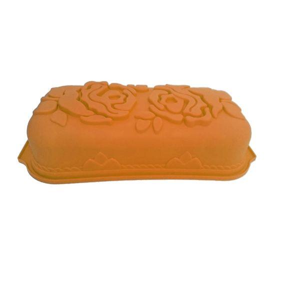 7899382702052Forma-De-Bolo-Silicone-Roses-Laranja-Basic-Kitchen71206-LARANJA