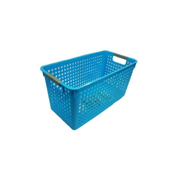 Cesta-Organizadora-Grande-40x20x19cm-Basic-Kitchen-Azul