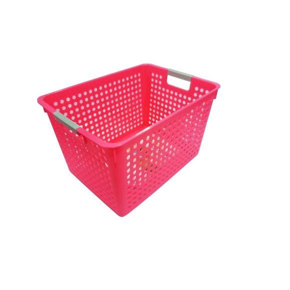 Cesta-Organizadora-Grande-40x24x20cm-Basic-Kitchen--Rosa