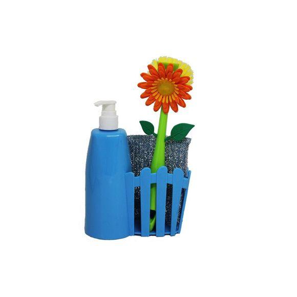 Kit-Escova-e-Dispenser-61036-Azul-Basic-Kitchen