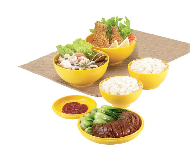 Kit De Bowl Oriental B914 Amarelo Basic Kitchen