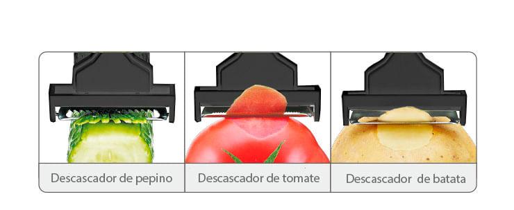 Descascador De Vegetais B922 Preto Basic Kitchen