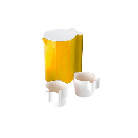 Jarra-Com-4-Copos-Amarelo-Basic-Kitchen