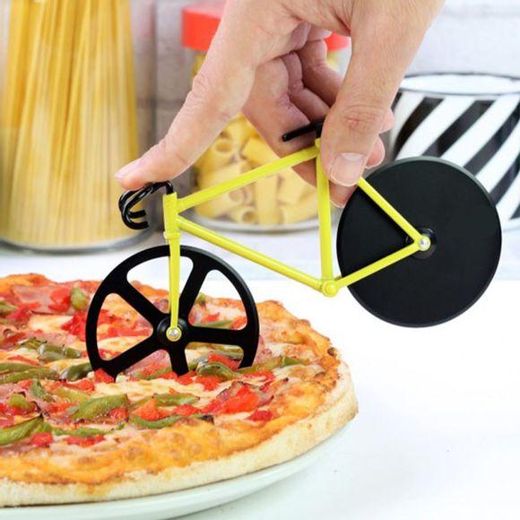 Cortador-De-Pizza-Tipo-Bike-Amarelo-Basic-Kitchen
