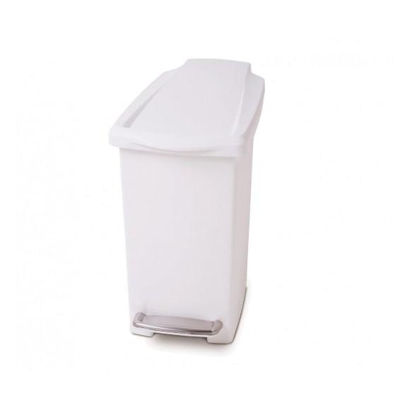 Lixeira-Slin-Plastica-branca-10l-Simple-Human---SH158BR