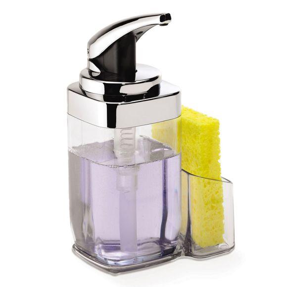 Porta-sabonete-liquido-Square-com-suporte-Simplehuman---SH114AI
