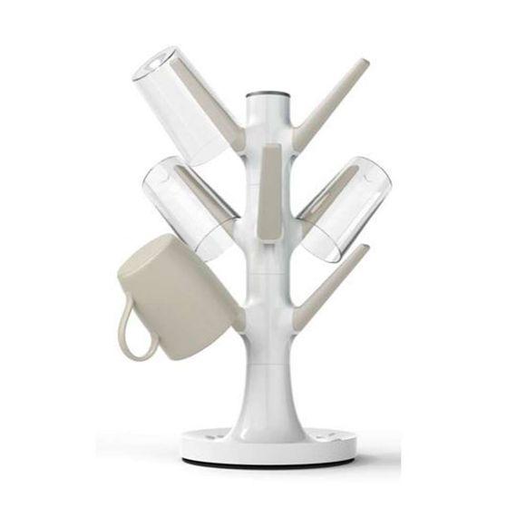 Escorredor-De-Copos-Tree-Branco---Cinza-Siliconezone