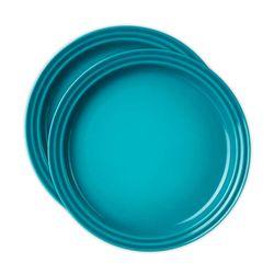 Jogo-2-pratos-redondo-15cm-azul-caribe-Le-Creuset