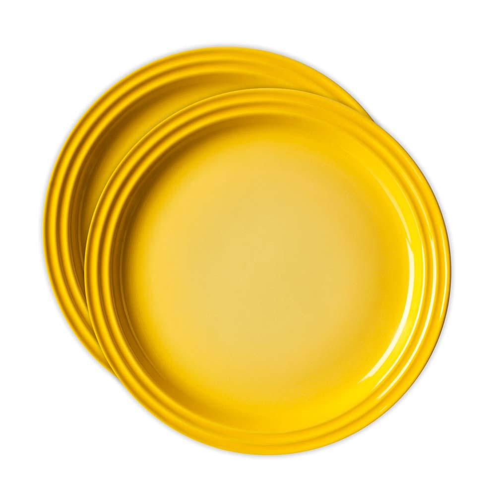 Jogo 2 Pratos Redondos 15Cm Amarelo Dijon Le    630870029889    Creuset
