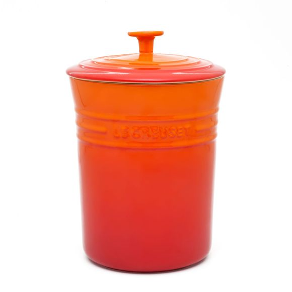 Porta-mantimentos-medio-laranja-Le-Creuset